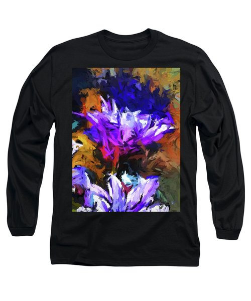 Lavender Flower And The Cobalt Blue Reflection Long Sleeve T-Shirt