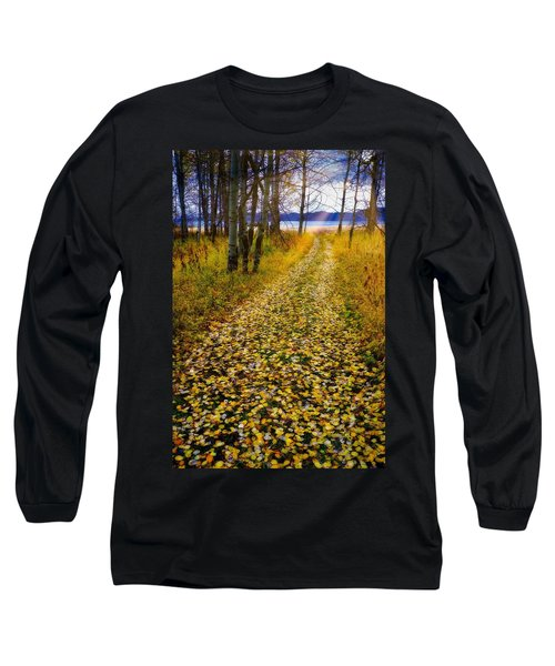 Leaves On Trail Long Sleeve T-Shirt
