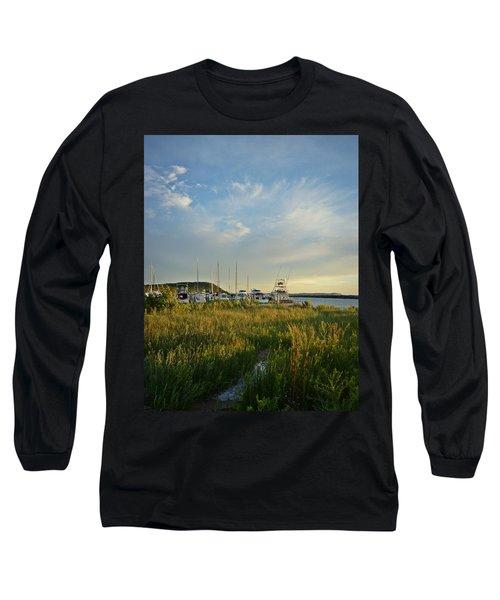 Leland Harbor At Sunset Long Sleeve T-Shirt