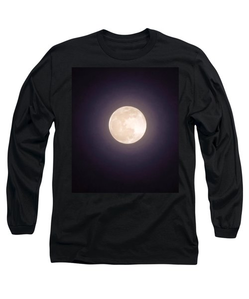 Long Sleeve T-Shirt featuring the photograph Libra Full Moon by Judy Kennedy