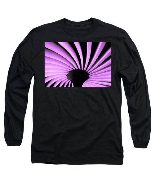 Lilac Fan Ceiling Long Sleeve T-Shirt