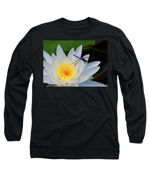 Lily And Dragonfly Long Sleeve T-Shirt