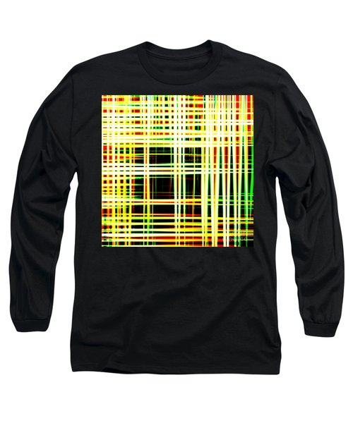 Lines And Squares In Color Waves - Plb418 Long Sleeve T-Shirt