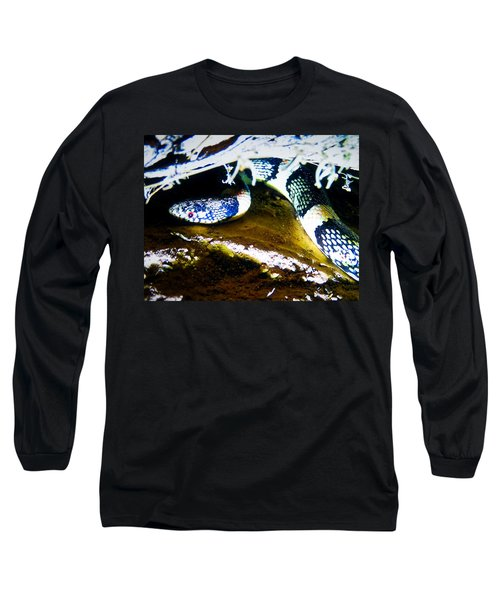 Long Sleeve T-Shirt featuring the photograph Longnosed Snake In The Desert by Judy Kennedy