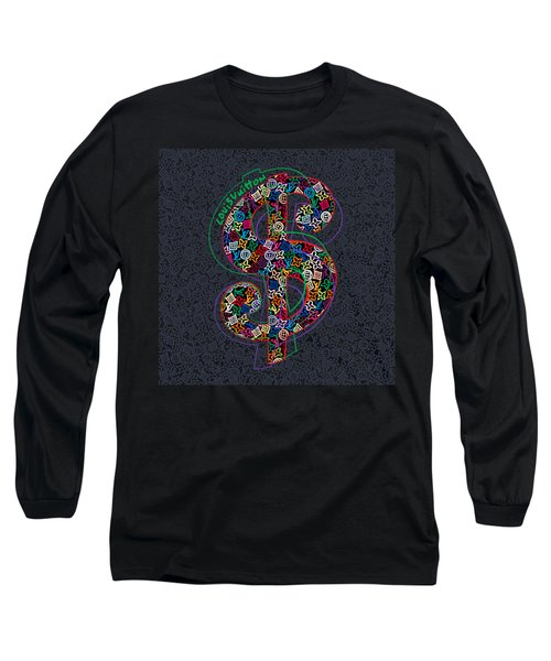 Louis Vuitton Dollar Sign-4 Long Sleeve T-Shirt