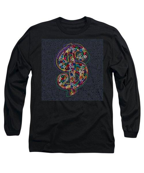 Louis Vuitton Dollar Sign-8 Long Sleeve T-Shirt
