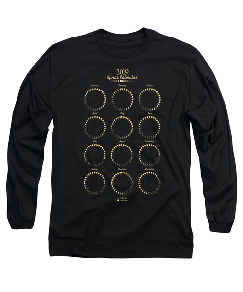 Lunar Calendar Long Sleeve T-Shirt