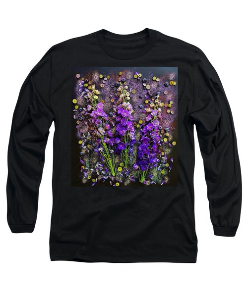 Lupine And Blueberries  Long Sleeve T-Shirt