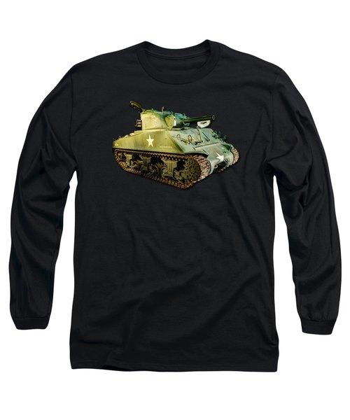 M4 Sherman Tank 2 Canvas Long Sleeve T-Shirt