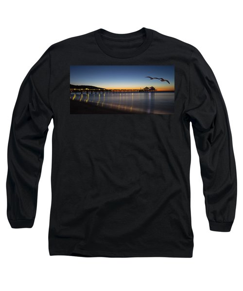 Malibu Pier At Sunrise Long Sleeve T-Shirt