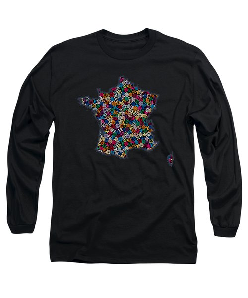 Map Of France-2 Long Sleeve T-Shirt