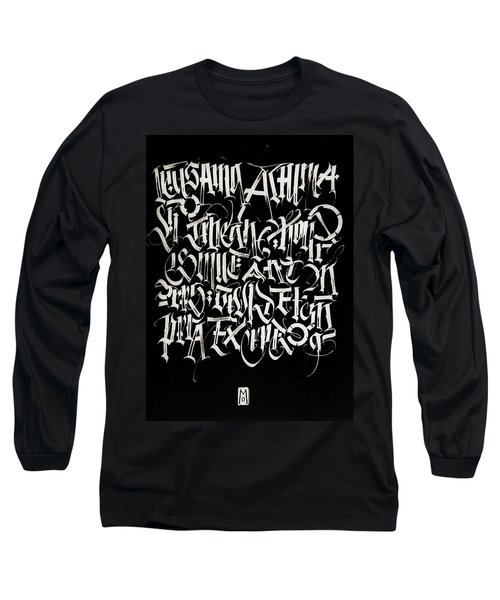 Melody Of Letters. Calligraphic Abstract Long Sleeve T-Shirt