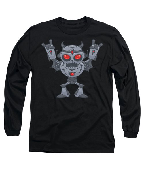 Metalhead - Heavy Metal Robot Devil Long Sleeve T-Shirt