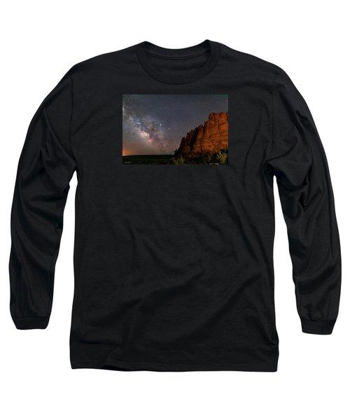 Milky Way At Navajo Rocks 2 Long Sleeve T-Shirt