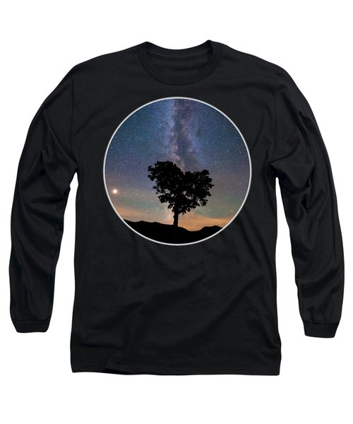 Milky Way Heart Tree Circle Long Sleeve T-Shirt