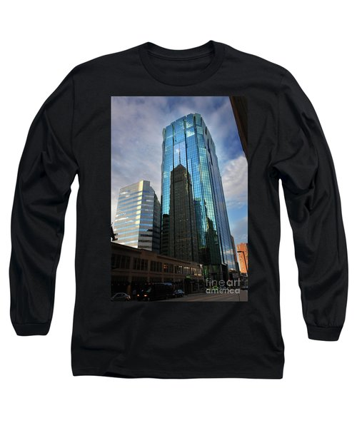 Minneapolis Skyline Photography Foshay Tower Long Sleeve T-Shirt