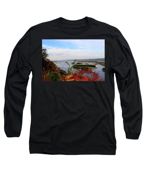 Mississippi River In The Fall Long Sleeve T-Shirt