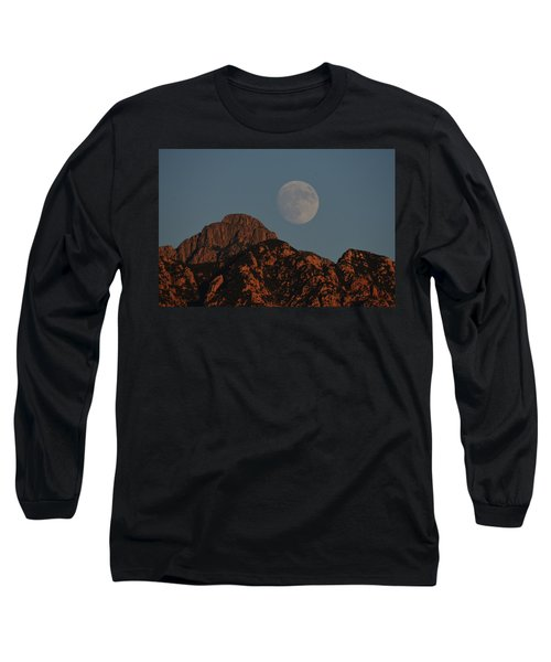Moon Rise Over Mount Wrightson  Long Sleeve T-Shirt