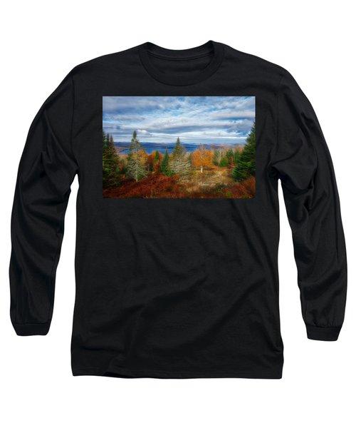 Mooselookmeguntic Lake Fall Colors Long Sleeve T-Shirt
