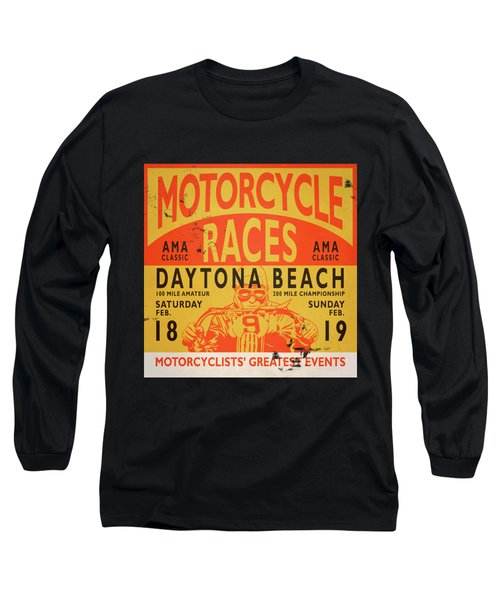Motorcycle Races Daytona Beach Long Sleeve T-Shirt