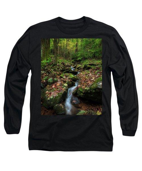 Mountain Stream - Blue Ridge Parkway Long Sleeve T-Shirt