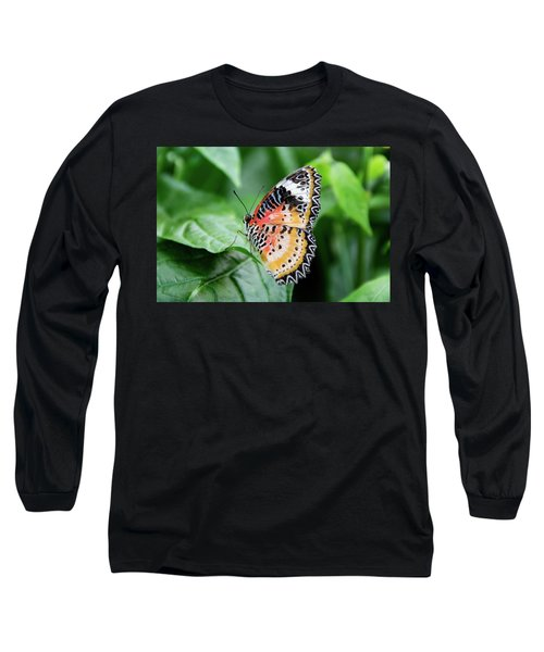 Multi Colored Butterfly Long Sleeve T-Shirt
