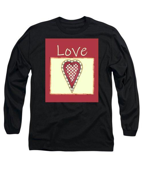 My Checkered Heart Long Sleeve T-Shirt