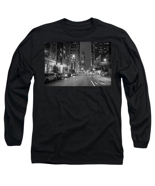 New York City Gotham West Market New York Ny Black And White Long Sleeve T-Shirt