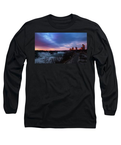 Niagara Falls At Sunrise Long Sleeve T-Shirt