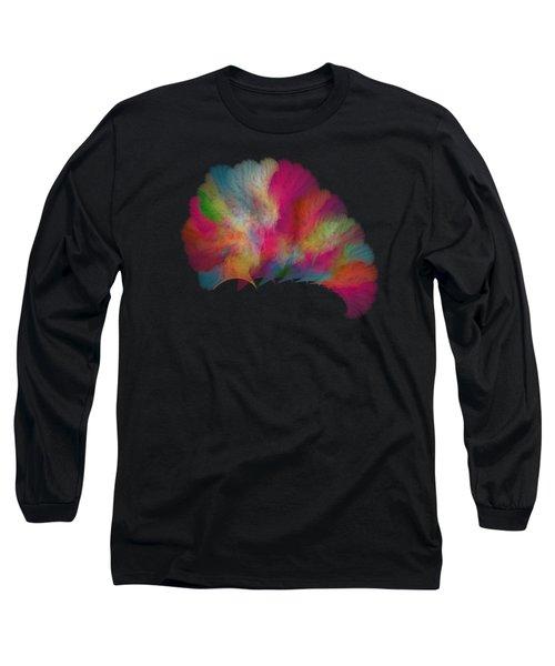 Ocean Fan Coral  Detailed Fractal  Long Sleeve T-Shirt