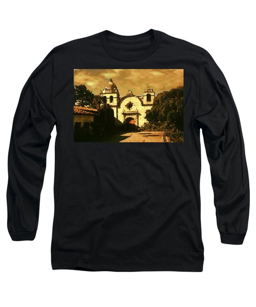 Old Carmel Mission - Watercolor Painting Long Sleeve T-Shirt