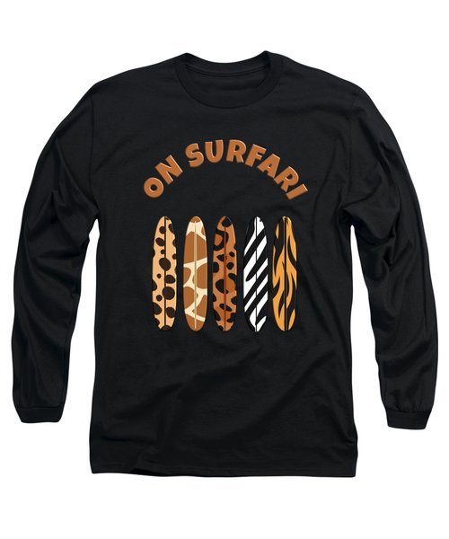 On Surfari Animal Print Surfboards  Long Sleeve T-Shirt