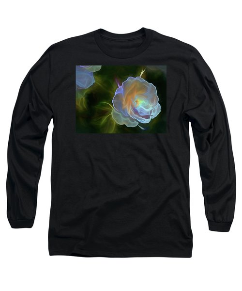 Long Sleeve T-Shirt featuring the mixed media Open To Light 11 by Lynda Lehmann