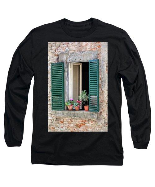 Open Window Of Tuscany Long Sleeve T-Shirt
