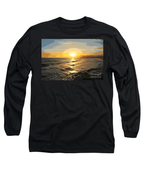 Pacific Sunset Impressionism, Santa Monica, California Long Sleeve T-Shirt