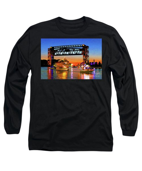 Parade Of Lighted Boats Long Sleeve T-Shirt