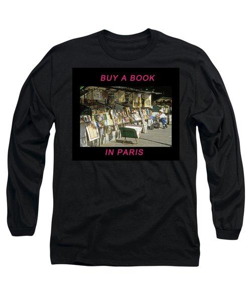 Paris Bookseller Long Sleeve T-Shirt