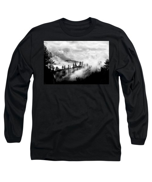 Passing Storm Central Idaho Mountains Long Sleeve T-Shirt