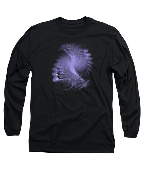 Peacock Fractal Transparent Long Sleeve T-Shirt
