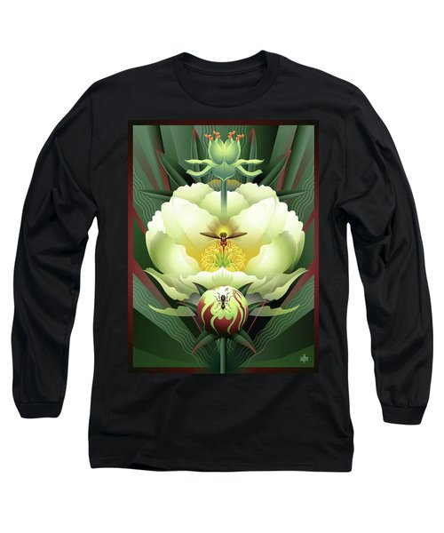 Peony White Glory Long Sleeve T-Shirt