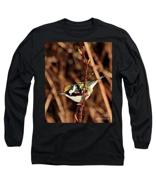 Perky Little Warbler Long Sleeve T-Shirt