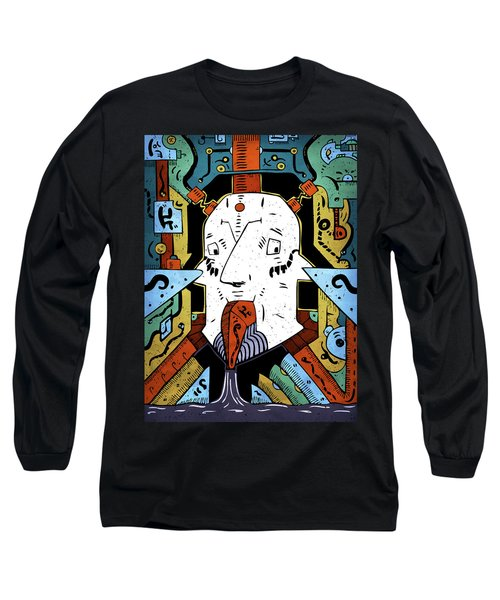 Long Sleeve T-Shirt featuring the drawing Petroleum by Sotuland Art