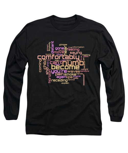 Pink Floyd - Comfortably Numb Lyrical Cloud Long Sleeve T-Shirt