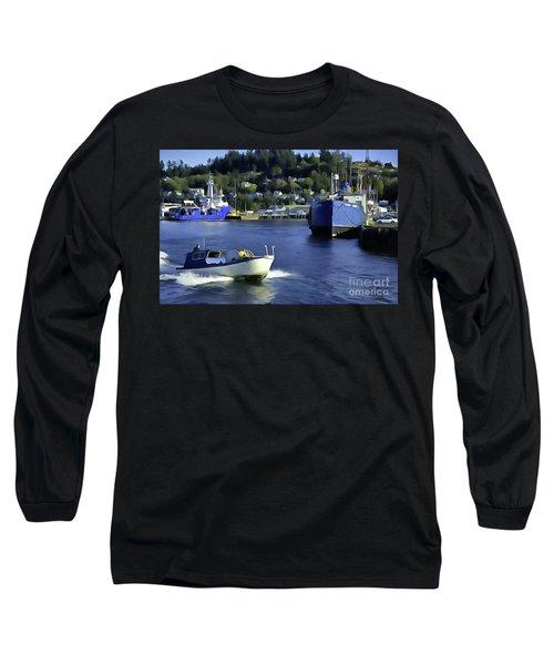 Port Of Astoria Oregon Long Sleeve T-Shirt