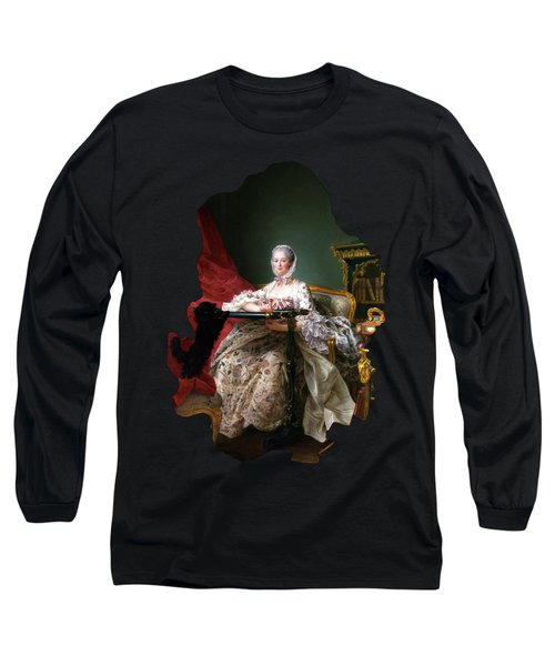 Portrait Of Madame De Pompadour At Her Tambour Frame By Francois Hubert Drouais Long Sleeve T-Shirt