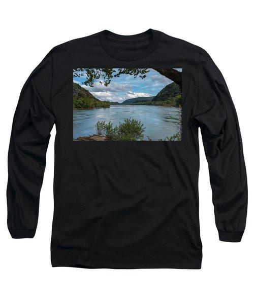Potomac River At Harper's Ferry Long Sleeve T-Shirt
