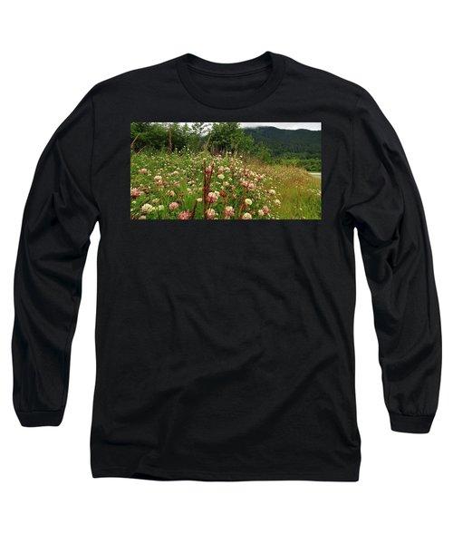 Pretty Pink Fields Long Sleeve T-Shirt