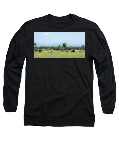 Psychedelic Cows Long Sleeve T-Shirt
