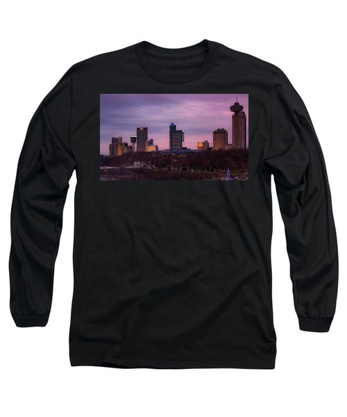 Purple Haze Skyline Long Sleeve T-Shirt