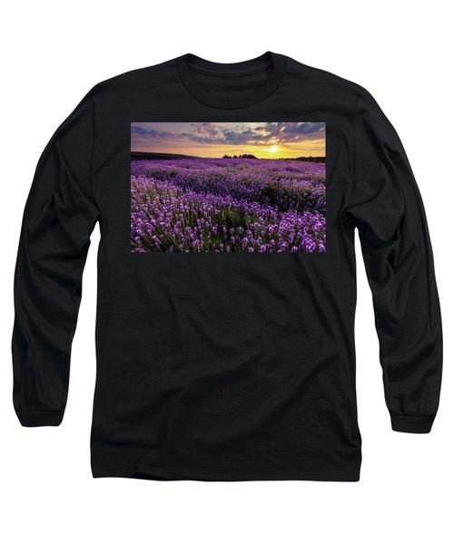 Purple Sea Long Sleeve T-Shirt
